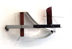 Silber faichen Feld  ( 2000 ), acier, plexy, film métallique, boulons, nylon, peinture, aimant. Une partie est mobile. (emmanuelviard75) Tags: films nylon mobilité acier plexy boulons
