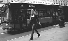 Walk of fame...for bus only ! (Pierre Mallien) Tags: street woman bus london girl fashion lady walk fame blond oxford rue regent mode