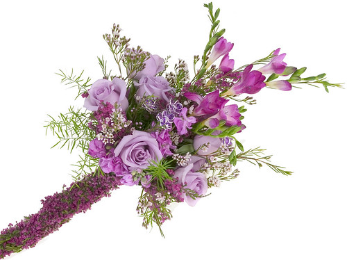Radiant Orchid Bridal Bouquet — David Kesler, Floral Design Institute, Inc., in Portland, Ore.