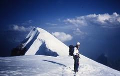 Jean Michel on Point Walker (andywalker1) Tags: alps walker northface andrewwalker andywalker alpineclimbing grandesjorasses walkerspur eperonwalker pointewalker