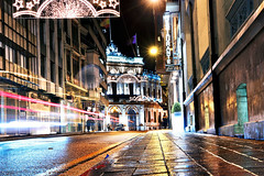 City Lights (Rubn Toquero) Tags: road luz night canon navidad luces noche ciudad citylights palencia castillaylen erre estelas ruhey rubntoquerogonzlez rubetoq