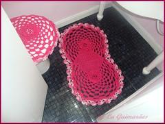 Jogo de banheiro (Artesanato com amor by Lu Guimaraes) Tags: artesanato fuxico trico crochê {vision}:{outdoor}=0677 byluguimarães