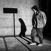 Go your own way (. Jianwei .) Tags: street morning light shadow urban bw man vancouver mood granville candid streetsign stranger nex kemily nex6