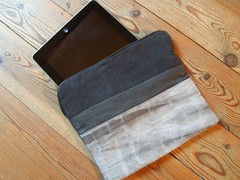 housse tablet anthracite a tirette