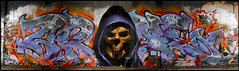 Arone + Flow (TWE) (Chrixcel) Tags: skulls flow skull graffiti tags graff fresque vanité twe arone