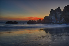 Be happy for this moment. This moment is your life… (ferpectshotz) Tags: light sunset red nature landscape display signature bigsur vivid pacificocean chase pfeifferstatebeach