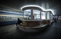Paradeplatz Tramstation Zrich (CEMBR) Tags: blue light people night bench movement exposure nacht tripod tram ticket zrich longshutter bahnhofstrasse tramstation paradeplatz tramhaltestelle canonphotography 174040 canon5dmarkiii 5dseries