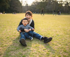 In a park of the early spring #3 (usk9999) Tags: park family baby cute japan children kid spring nikon wife d800 sigma35mmf14