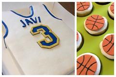 Basketball Jersey Cake with Basketball Cupcakes (dms81) Tags: cake birthday sports gumpaste fondant basketballjersey jersey basketball basketballcupcakes basketballcake