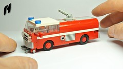 How to Build the Lego Firetruck (MOC) (hajdekr) Tags: firetruck fire truck car vehicle automobile moc myowncreation creation design 4stud lego toy small easy simple howto manual tuto tutorial assemblyinstructions instruction guide buildingguide tip tips help stepbystep assembly