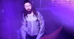 trash (aarontj90) Tags: evolove glasses aviator hipster cool jesus yeezus hippie purple trash garbage secondlife avatar treschic beard