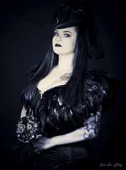 Gothic Shoot (evelefay) Tags: portrait photography photo gothic steampunk artistic canon art whitby makeup vampire blackandwhite black white