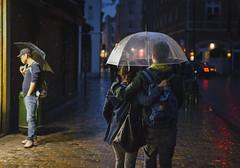 One for Two (Ash and Debris) Tags: night waliking street people brussels city evening streetlife urban love couple umbrella life weather walk europe rain feelings belgium