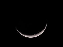Young Crescent Moon (atgc_01) Tags: lumix lx3 afocal celestron xlt 102 refractor moon crescent
