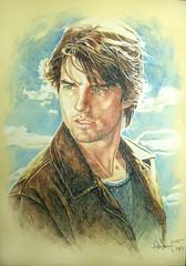 Tom Cruise (artist - Aaronwty) (KlaatuCarpenter) Tags: artwork portrait tomcruise aaronwty