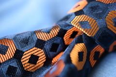Necktie, HMM! (adelina_tr) Tags: macro textile tie nikond5300 nikkor40mm knot silk texture macromondays cloth clothtextile throughherlens