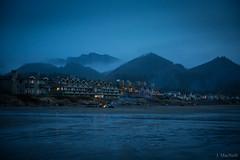 lodges (Jen MacNeill) Tags: cannonbeach or oregon pacific northwest pnw beach beaches ocean sea shore night lodge theoceanlodge blue hour mountains fog