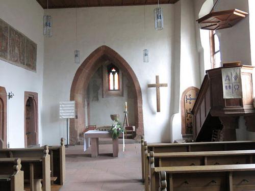 vue d'ensemble de la nef et du choeur