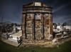 Monolithic Crypt (msuner48) Tags: d750 acr5 cs4 cemetery graves graveyard crypt history ladiescatholicbenevolentassociation sky grass topazlabs nikcollection rokinon8mmf35