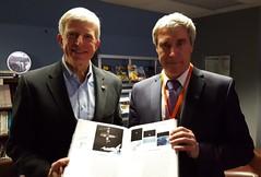 Ron Sega and Sergei Krikalev (alertfive) Tags: ronsega sergeikrikalev spaceshuttlethefirst20years yurisnight spacefoundation viavenue nasa roscosmos astronaut cosmonaut