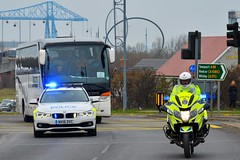 Police Escort (S11 AUN) Tags: cleveland police bmw 330d 3series touring anpr traffic car roads policing rpu 999 emergency vehicle nx16dvc r1200rt motorcycle roadspolicingunit trafficbike nx16dvk