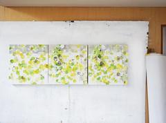 """""""Seikurabe"""" and Diptych """"Seikurabe wo mohichido"""" (mayakonakamura) Tags: mayako nakamura commissionedwork watermarkartscrafts watermark tokyo abstract painting oil canvas contemporaryart"""