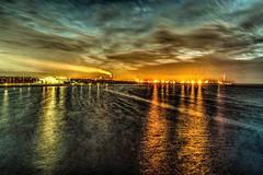 Sea Lights (stewartcollins2) Tags: night lights reflection reflections beach seascape sea water oulu finland suomi