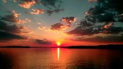 Sunset (martinasirchio) Tags: lake trasimeno water sun clouds relax atmosphere pink happy