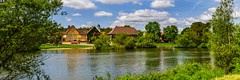 Winterhausen No. 2, little village at the river Main (dejott1708) Tags: germany landscape river main clouds summer panorama winterhausen lower franconia bavaria