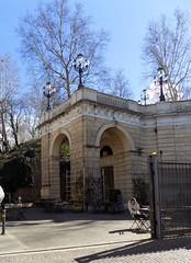 Dynamo entrance (indigo_jones) Tags: dynamo entrance archway fietsen bicycles parking storage park bologna italy