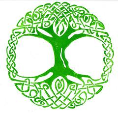 Tree of Life (lwdphoto) Tags: lance duffin lanceduffin celtic treeoflife tree linocut blockprint print printmaking ink art