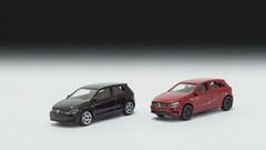Majorette Volkswagen Golf GTI and Mercedes Benz A - Class (nirmala_l91) Tags: majorette vw mercedesbenz diecast volkswagen
