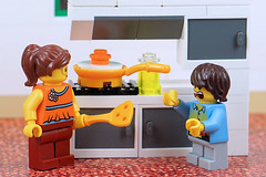 Easter aftermath! Lingering egg and holiday cravings (Lesgo LEGO Foto!) Tags: lego minifig minifigs minifigure minifigures collectible collectable legophotography omg toy toys legography fun love cute coolminifig collectibleminifigures collectableminifigure easter egg kitchen easterbreak holiday holidays vacation mother mom son pan eggs cravings craving easterholidays easterholiday