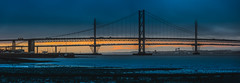 Forth (MilesAnderson) Tags: forth road travel bridge evening sunset panoramic panaorama skyline sky architecture engineering clouds dark light edinburgh scotland uk canon 5dmkiii