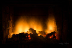The Fireplace (modestmoze) Tags: fire fireplace bricks lines march 2017 500px inside indoors interior interesting warm hot coal wood burns burning red yellow black shadows shingle lithuania view new filter 10stopfilter ndfilter night