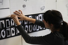 Pinning up for the 2017 Student Show (Taubman College of Architecture and Urban Planning) Tags: um umich universityofmichigan taubmancollege architecture urbanplanning