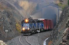 Almost to the summit (Moffat Road) Tags: montanaraillink mrl freighttrain tunnel exhaust smoke emd sd45 351 mrl2ndsub montanaraillinksecondsubdivision bozemanpass summit westend montana train railroad locomotive mt bozemanpasstunnel