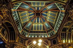 look up to the stars (gian_tg) Tags: leadenhallmarket cityoflondon paintedceiling starrynights ornate dome symmetry ceiling flickrfriday