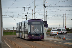 Blackpool Tram 002, Starr Gate (sgp_rail) Tags: blackpool tram street streetcar car electric bombardier flexity 2 lancs lancashire nikon d7000 april 2017 sea front prom promenade starr gate
