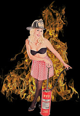 Madeleine on fire (bsurma) Tags: bsurma people americana pinup bill surma billsurma portrait