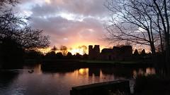 Kirby Muxloe Castle (DavidSteele31) Tags: castles sunset moat leicestershire clouds