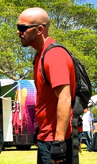 Bald backpacker (LarryJay99 ) Tags: dude urban backpack citygloves dudes guys goatees cargopants florida rainbowflag facialhair shoulders man diggingpits sunshades peekingnipples glasses ilobsteritflickr gayevents men cargo armpits attractiveman providefirst2017 lakeworth baldman handsome male guy attractive beards hotman photostream urbanbackpacker flickr bluesky iphone7plusbackdualcamera66mmf28