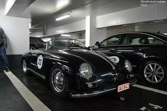 Porsche 356 Speedster (Monde-Auto Passion Photos) Tags: voiture vehicule auto automobile porsche 356 speedster cabriolet convertible roadster spider noir ancienne sportive france paris parking sousterrain