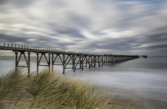 WHAT DO YOU SEE ?  (EXPLORED) (lynneberry57) Tags: sea coast seascape tide longexposure filter leebigstopper sky clouds dunes nature light weather grey structure steetleypier hartlepool canon 70d leefilters landscape
