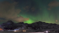 it's been another night of Alchemist Skies (lunaryuna) Tags: norway lofoten lofotenislands lofotenarchipelago landscape mountainrange sky nightsky starrynight starslikedust clouds northernlights auroraborealis nordlichter green winter season seasonalwonders lunaryuna