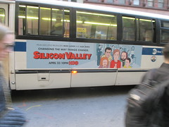 Silicon Valley HBO Show Bus Billboard 4343 (Brechtbug) Tags: silicon valley hbo show bus billboard springtime new york 2017 april 04122017 taxi cab sunny 44th street 7th ave near times square nyc pedestrians avenue st commuting shows billboards graphic novel artist daniel clowes illustration looks great art technology fueling station electricity power cartoon caricature cartoons