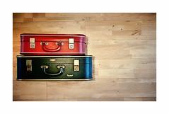 Day Tripper (CJS*64) Tags: travel traveler traveling red black suitcase two 2 holiday holidays vacation nikon nikkorlens nikkor nikonj5 j5 cjs64 craigsunter cjs packed allpacked
