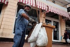 15/52: Hard Work (toletoletole (www.levold.de/photosphere)) Tags: cienfuegos porträt man müll street kuba fuji portrait trash mann xpro2 cuba