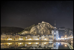 Dinant sur Meuse (Thomas Winstone) Tags: dinant wallonie belgium be meuse night nightphotography photo landscape ef1124mmf4lusm canon canonuk outdoors nature countryside outdoor 3lt 3leggedthing snow stars star sky moon moonlit astroscape thomaswinstonephotography