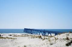 Blue beach (CharlineP.) Tags: france bordeaux gironde landscape blue ocean lasalie fishing sky